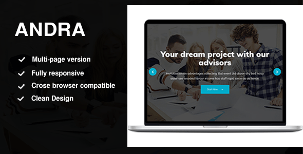 Andra - Multipurpose HTML5 Template - Business Corporate
