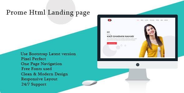 Prome HTML Portfolio Landing Page Template - Portfolio Creative