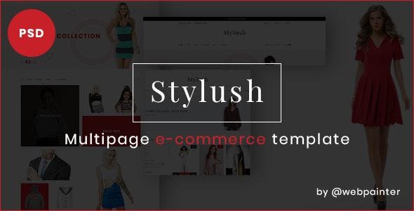 Stylush-ecommerce PSD Template - Photoshop UI Templates