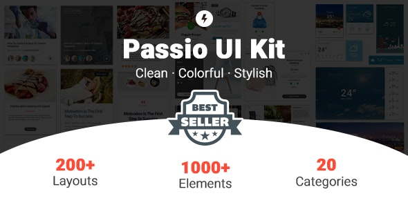 Passio - Huge Layout Collection and UI Kit Library for Web & App Design - Sketch UI Templates
