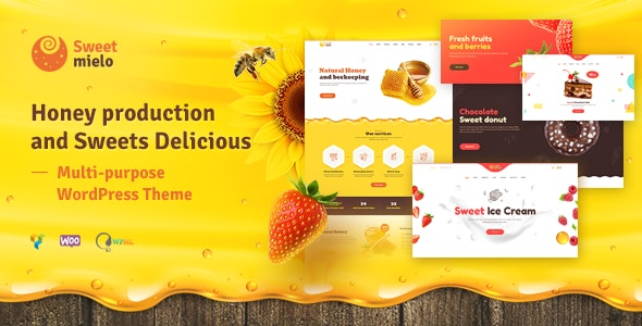 SweetMielo - Honey Production and Sweets Delicious WordPress Theme - Food Retail