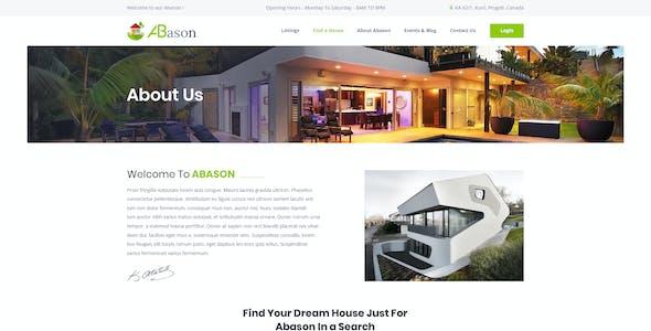 Abason - Real Estate PSD Template