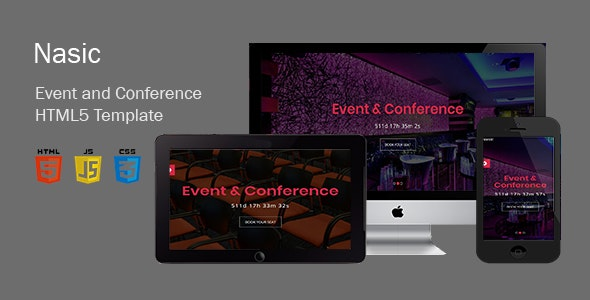 Nasic-Event & Conference Html5 Template - Events Entertainment