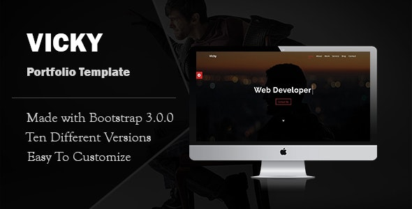 Vicky-Portfolio Template - Personal Site Templates