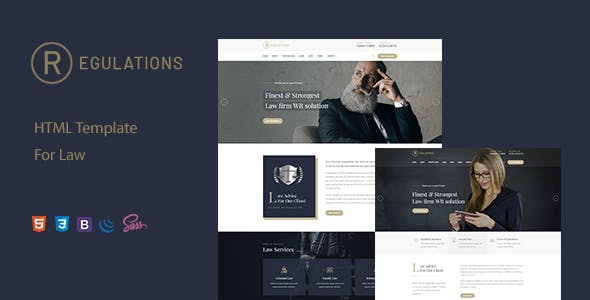 Regulations – Lawyers Attorneys and Law Firm HTML Template