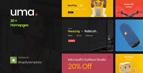 Uma - Minimal  Ecommerce PSD Template - Retail Photoshop