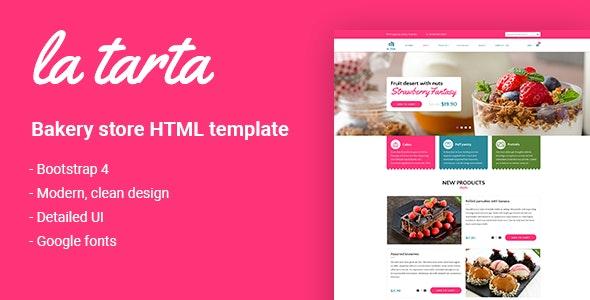 La tarta - Bakery Shop HTML5 Template - Food Retail