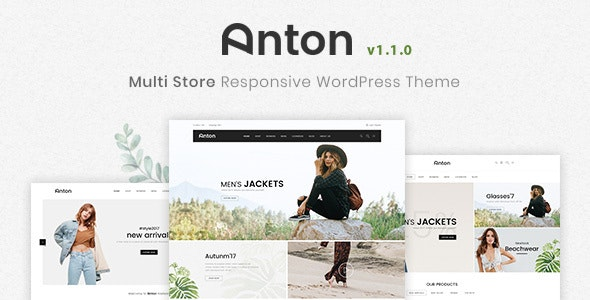 Anton - Multi Store Responsive WordPress Theme - Fashion Retail
