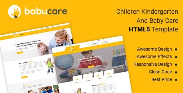 Babucare - Children Kindergarten And Baby Care HTML Template