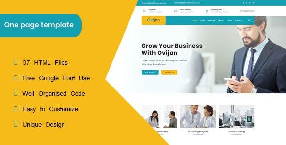 Ovijan || Finance & Business HTML5  Template - Corporate Site Templates
