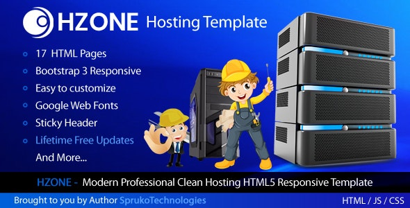 Hzone -  Modern Clean,Unique Hosting HTML5 Template - Hosting Technology