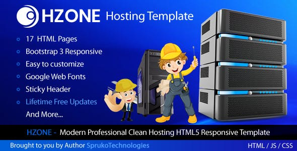 Hzone -  Modern Clean,Unique Hosting HTML5 Template