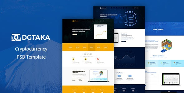 DGtaka - CryptoCurrency PSD Template - Business Corporate