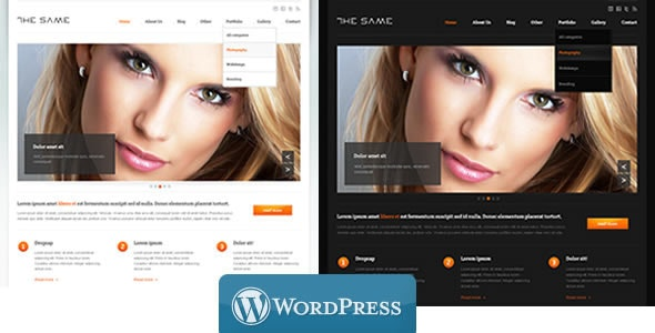 WordPress Business TheSame Template - Corporate WordPress