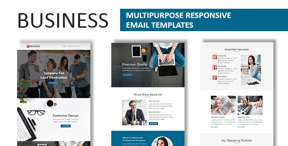 Business - Multipurpose Responsive Email Template with Online StampReady Builder Access - Newsletters Email Templates