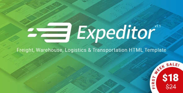 Expeditor - Freight, Logistics, Warehouse & Transportation HTML Template - Business Corporate