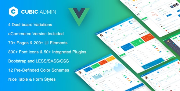 Cubic - Vue js Admin Template by Jthemes | ThemeForest