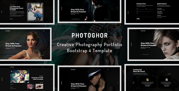 Photoghor - Photographer Portfolio HTML Template - Photography Creative