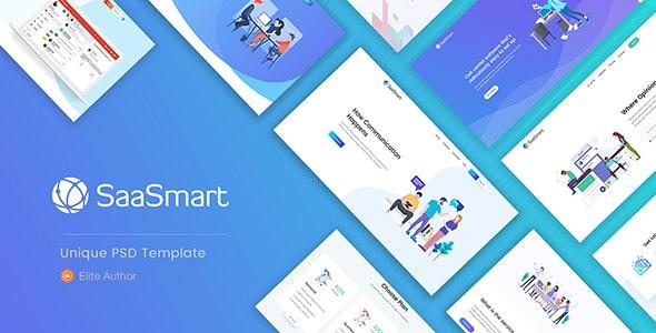 SaasMart - Agency, Saas, Web Application PSD Template - Business Corporate