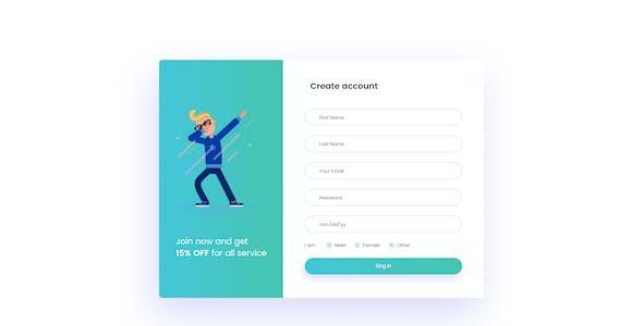 SaasMart - Agency, Saas, Web Application PSD Template