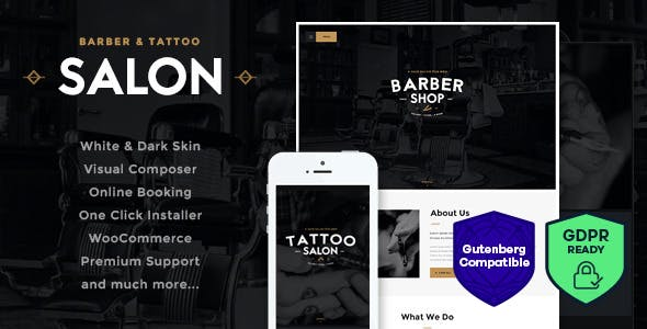 Salon | Barbershop & Tattoo Studio WordPress Theme