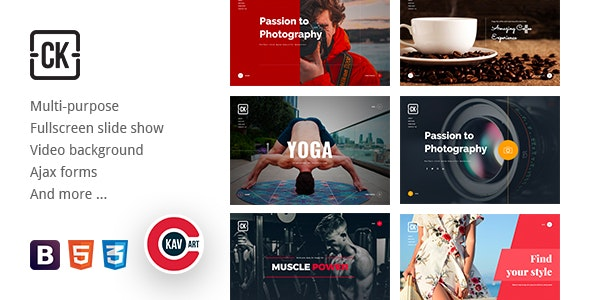 CK - Coming Soon Creative HTML Multipurpose Template - Specialty Pages Site Templates
