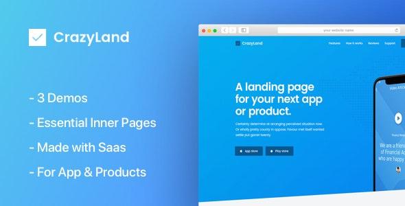 CrazyLand | App Landing Page - Landing Pages Marketing