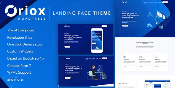 Oriox - WordPress Landing Page - Marketing Corporate