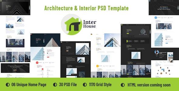 Inter House - Architecture & Interior PSD Template - Creative PSD Templates