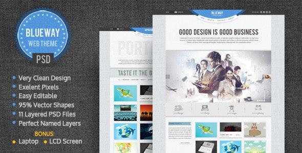 BlueWay - Minimal & Clean PSD Template - Portfolio Creative