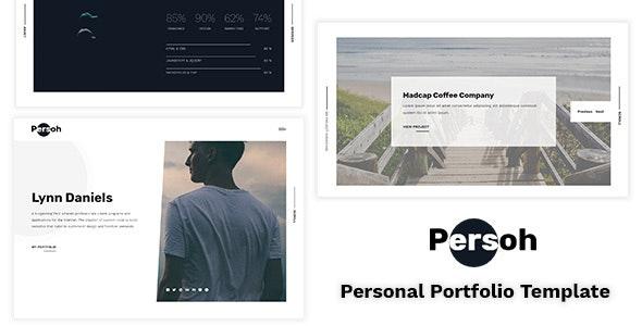 Persoh - Personal Portfolio Template - Personal Site Templates