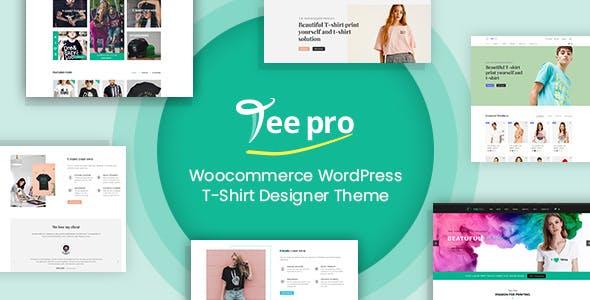 TEEPRO - Woocommerce Custom T-Shirt Designer WordPress Theme