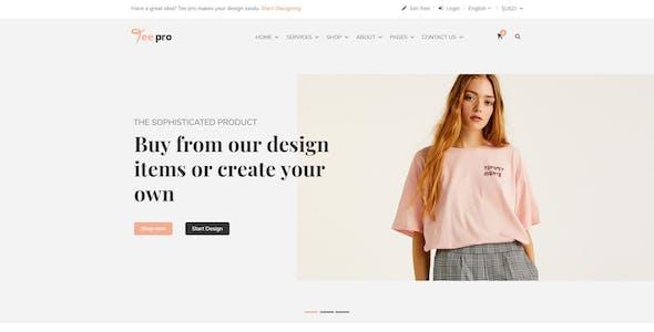 T Shirt Print Website Templates From Themeforest