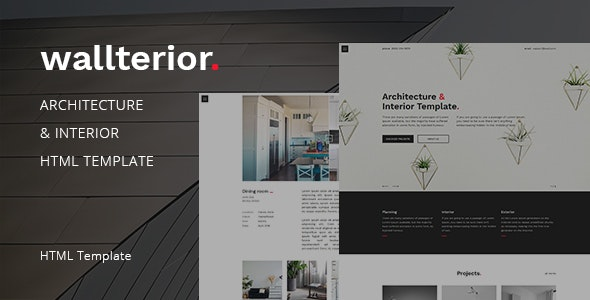 Wallterior – Architecture & Interior Template - Business Corporate