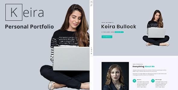 Keira - Bootstrap 4 One Page Personal Portfolio Template - Personal Site Templates