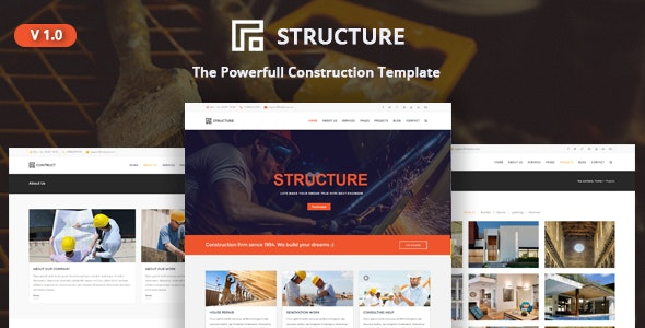 Structure - Construction, Building Business Template - Business Corporate