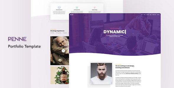 Agency & Personal Portfolio Template - Penne - Portfolio Creative
