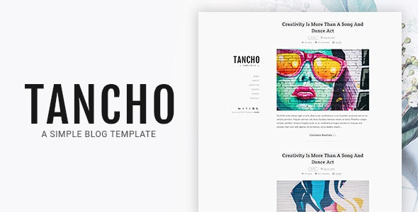 Tancho - Simple Blog HTML Template - Personal Site Templates