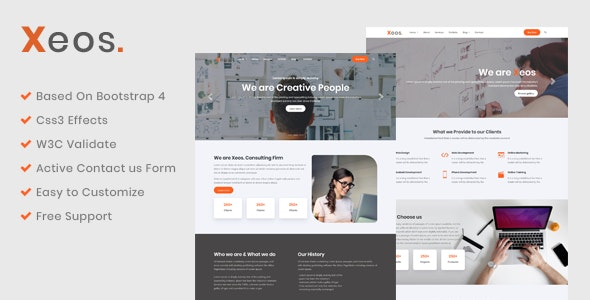 Xeos - Premium HTML Template - Business Corporate
