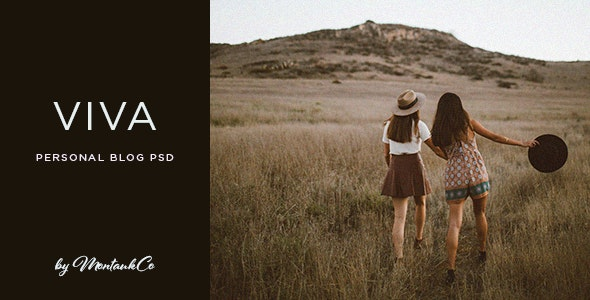 Viva - Personal Blog PSD - Personal Photoshop