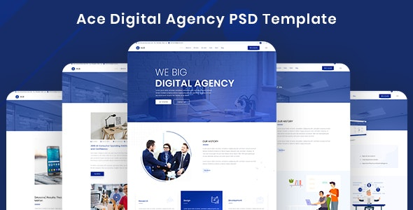 Ace - Digital Agency Template (PSD) - PSD Templates