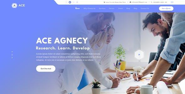 Ace - Digital Agency Template (PSD)