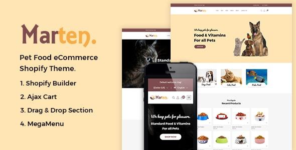 Marten - Pet Food, Pet Shop, Animal Care Shopify Theme by Theme-4Web