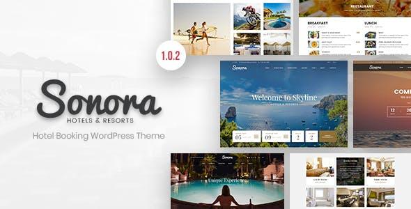 Sonora - Hotel Booking WordPress Theme