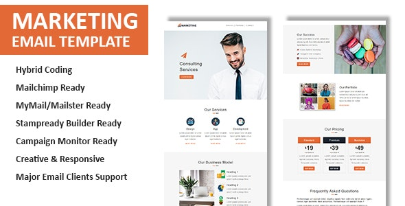 Marketing - Multipurpose Responsive Email Template with Online StampReady & Mailchimp Builders - Newsletters Email Templates