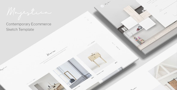Majestica - A Contemporary Ecommerce Sketch Template - Shopping Retail