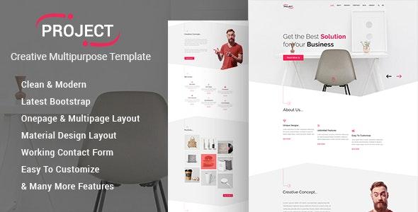 Project - Creative Multipurpose Template - Creative Site Templates