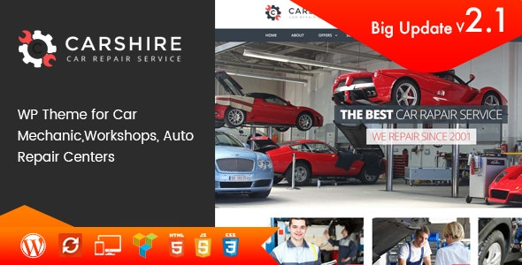 Car Shire || Auto Mechanic & Repair WordPress Theme - Business Corporate