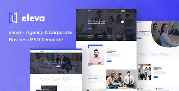 Agency & Corporate Business PSD Template - Corporate Photoshop