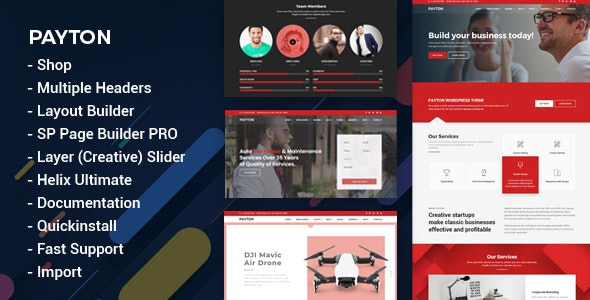 Payton - Multipurpose Business & Creative Joomla Template - Corporate Joomla